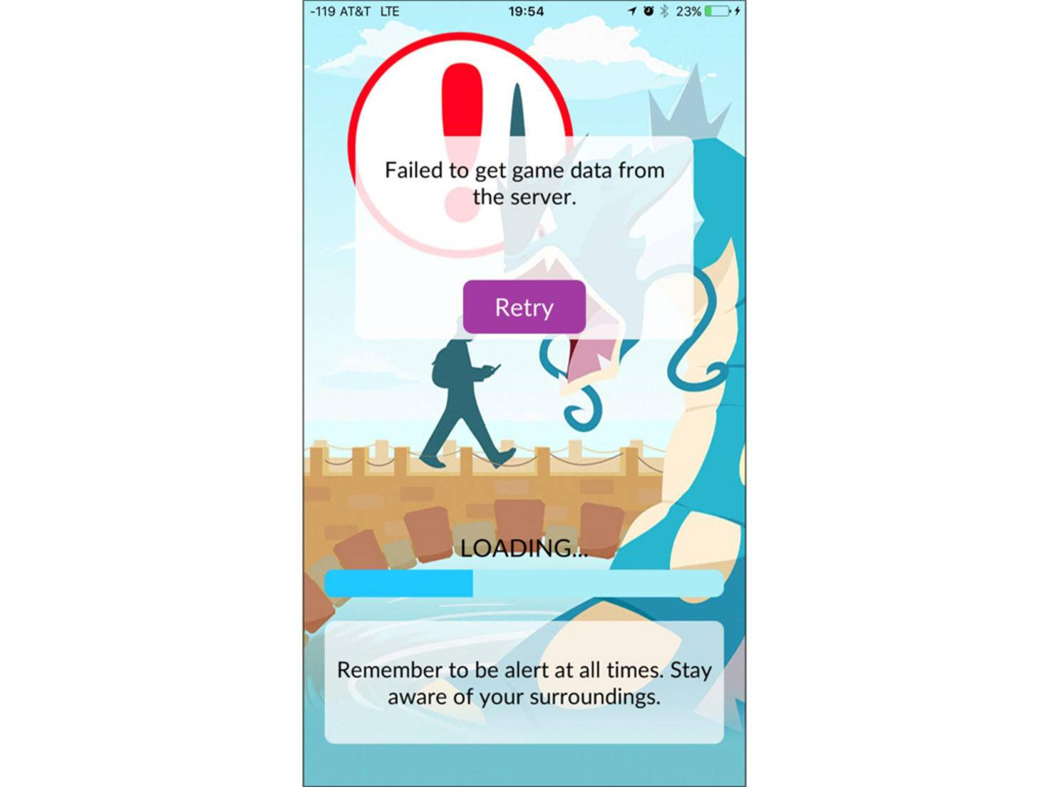 Gesperrte Spieler dürften einen dieser Screens sehen.