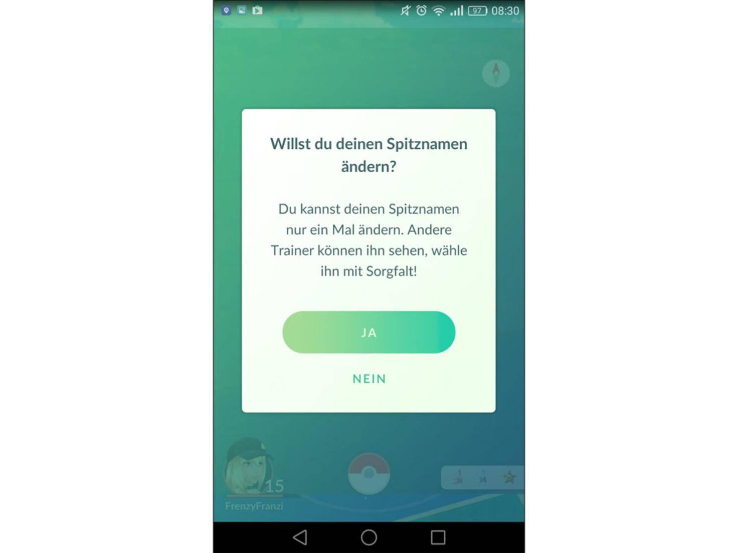 """""""Pokémon Go""""-Spieler dürfen jetzt einmalig ihren Spitznamen ändern."""