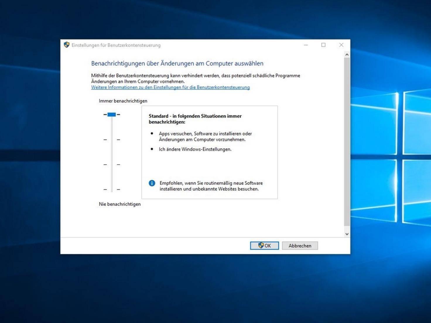 Hauptbildschirm ändern Windows 10