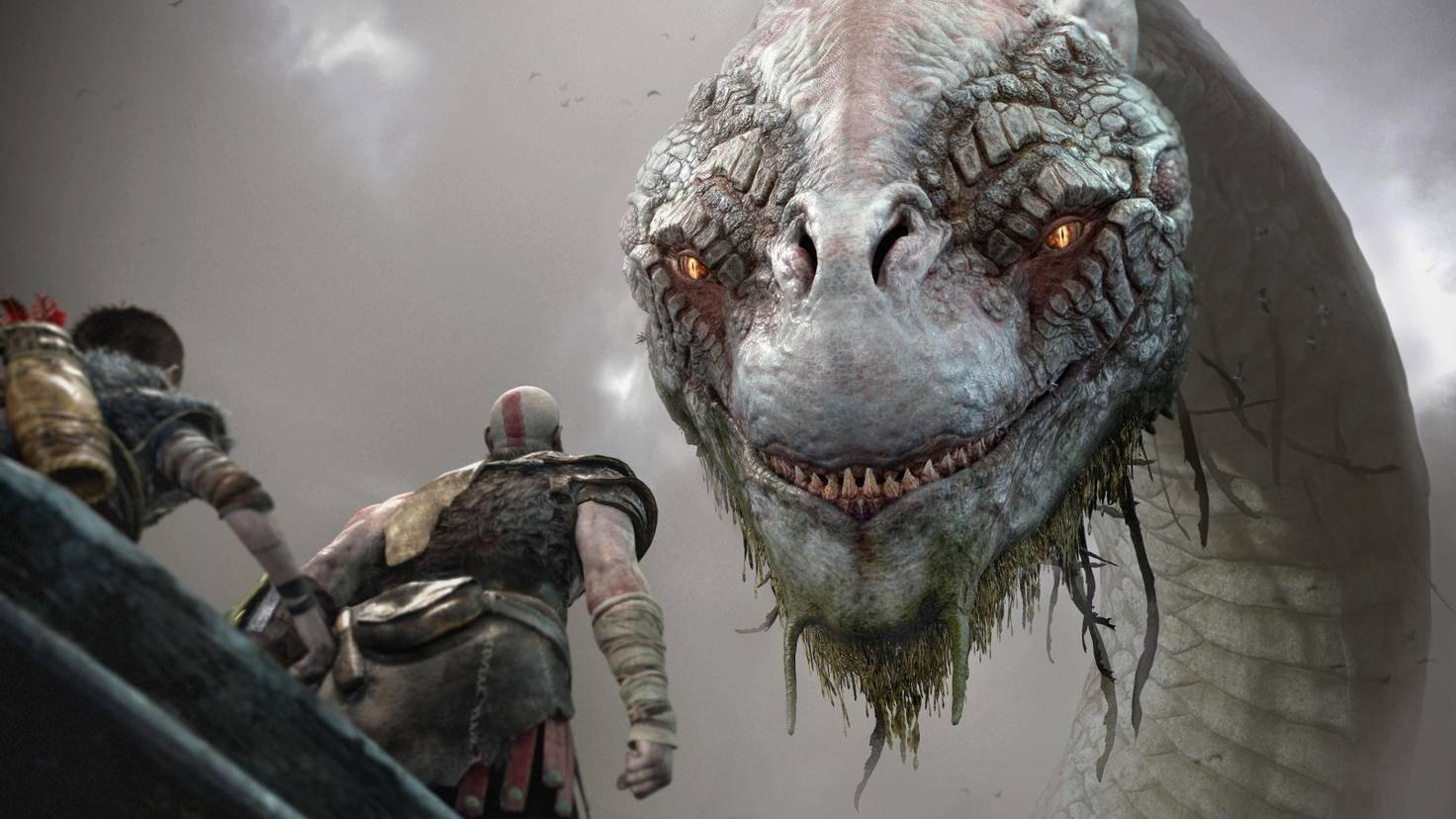 Kratos und Sohnemann Atreus kämpfen exklusiv auf der PS4 gegen die Götter der Germanen.