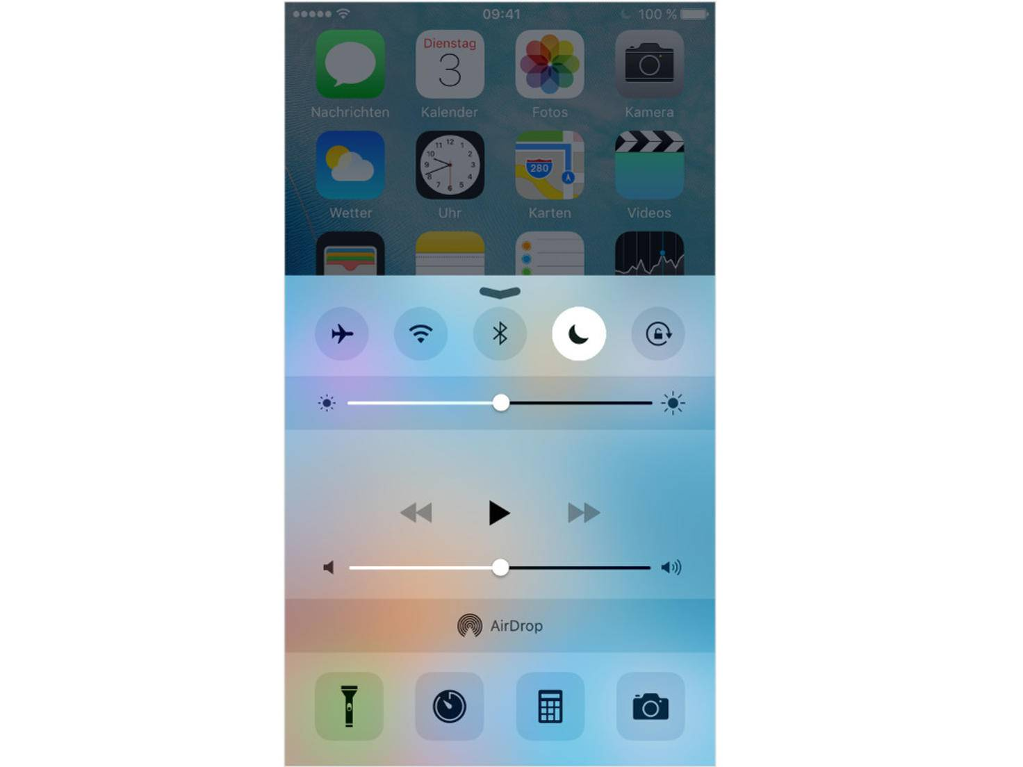 iOS Nicht stören Kontrollzentrum