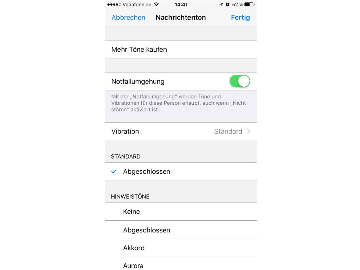 iOS Nicht stören Notfallumgehung