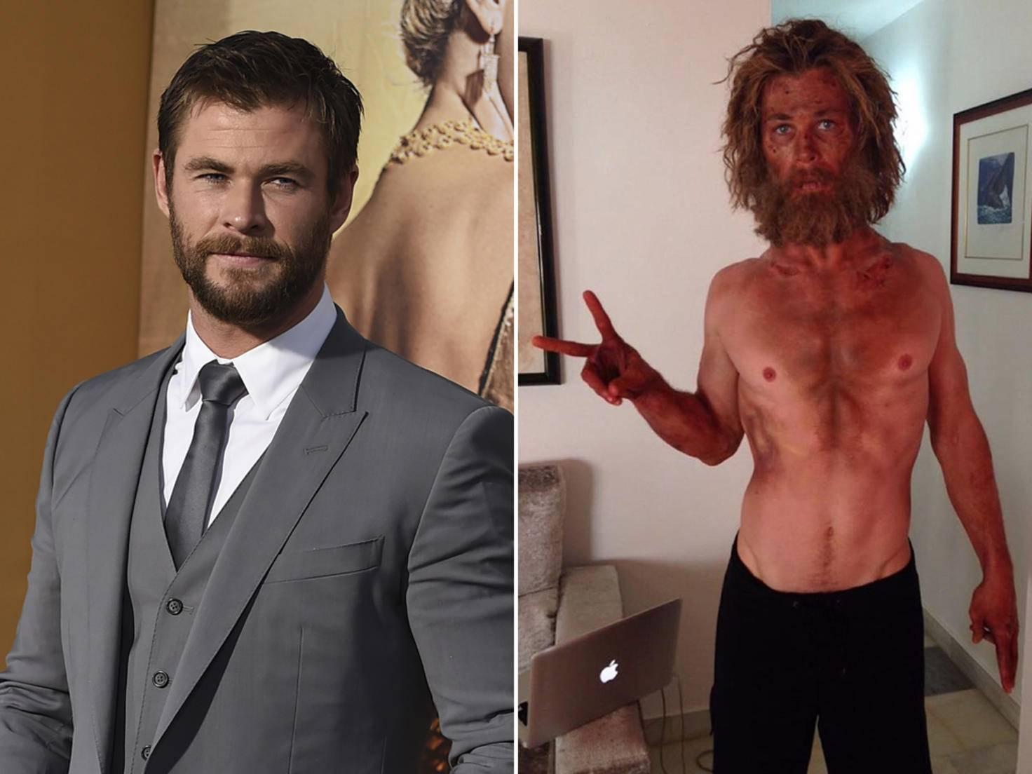 Auf seinem Instagram-Bild war Chris Hemsworth fast nicht wiederzuerkennen.