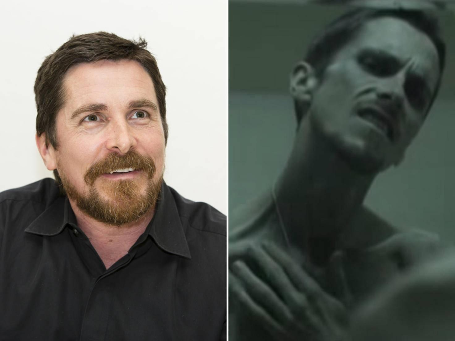 """Um für """"Der Maschinist"""" abzumagern, aß Christian Bale so gut wie nichts mehr."""