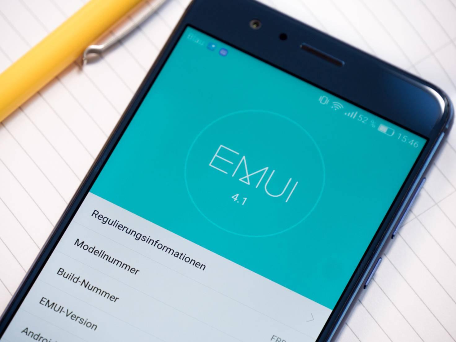 Der Hersteller setzt auf die Nutzeroberfläche EMUI 4.1.