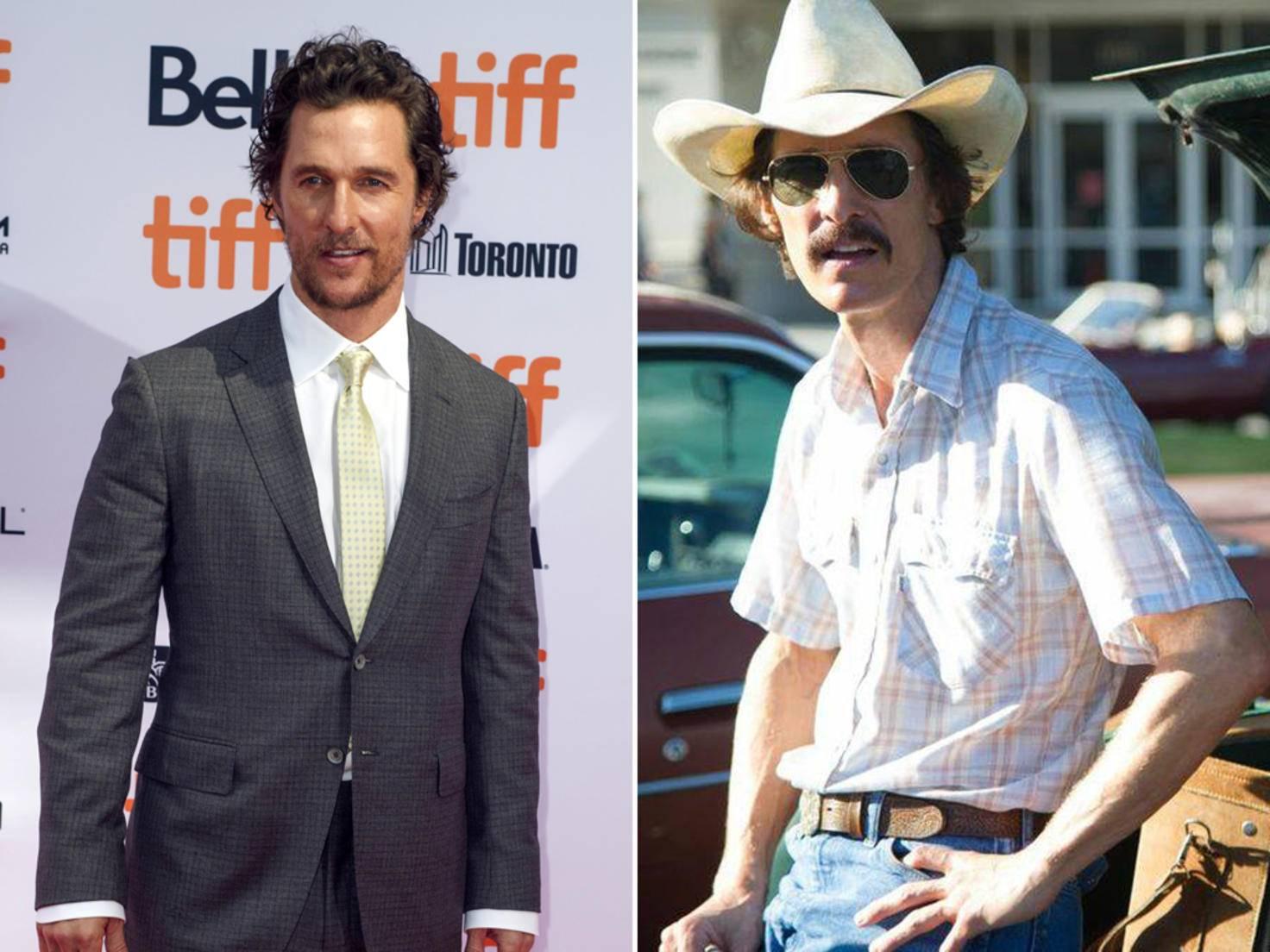 """Matthew McConaughey verlor in der Vorbereitung zu """"Dallas Buyers Club"""" jede Woche mindestens drei Kilogramm."""