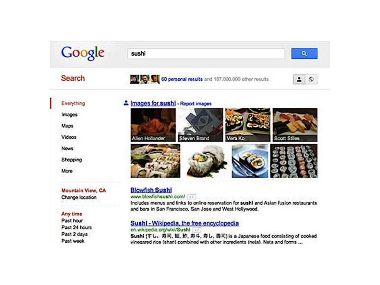 Google 2011 Sushi