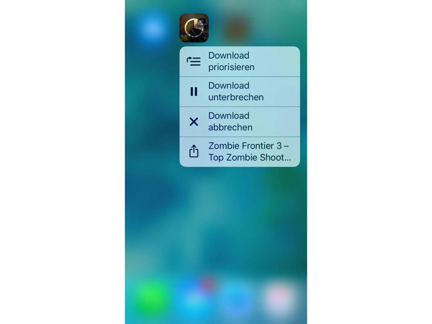 iOS 10 Downloads 3D Touch