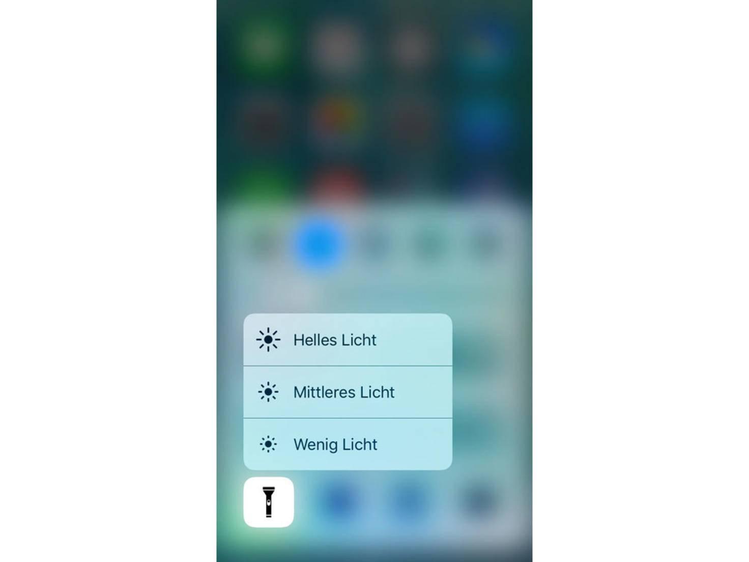 iOS 10 Kontrollzentrum 3D Touch