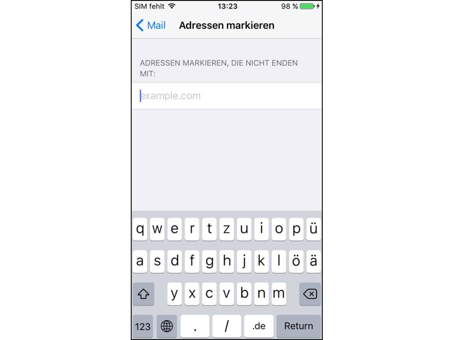 iPhone Mail Adressen markieren.jpg