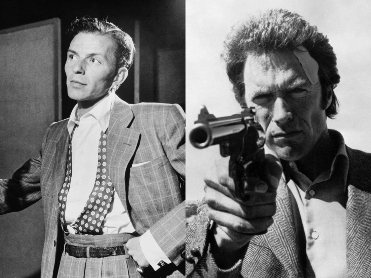 """Smart vs. hart: Frank Sinatra war ursprünglich für die Hauptrolle in """"Dirty Harry"""" vorgesehen."""