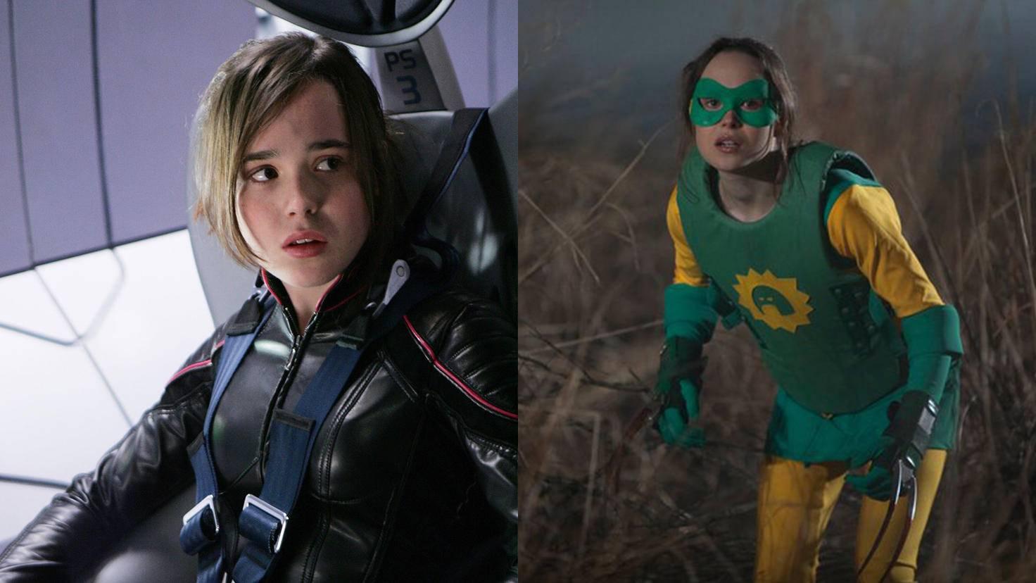 """Ellen Page: Einmal in cool als Shadowcat in """"X-Men"""" und einmal in minimal peinlich alias Blitzi."""