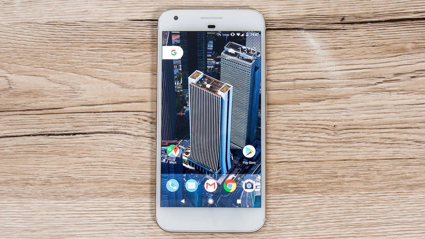 So sieht das Pixel XL ohne Nachtmodus aus...