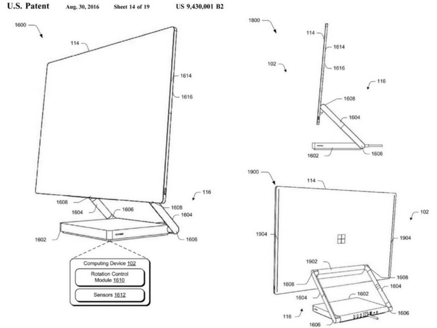 Surface Studio Patent