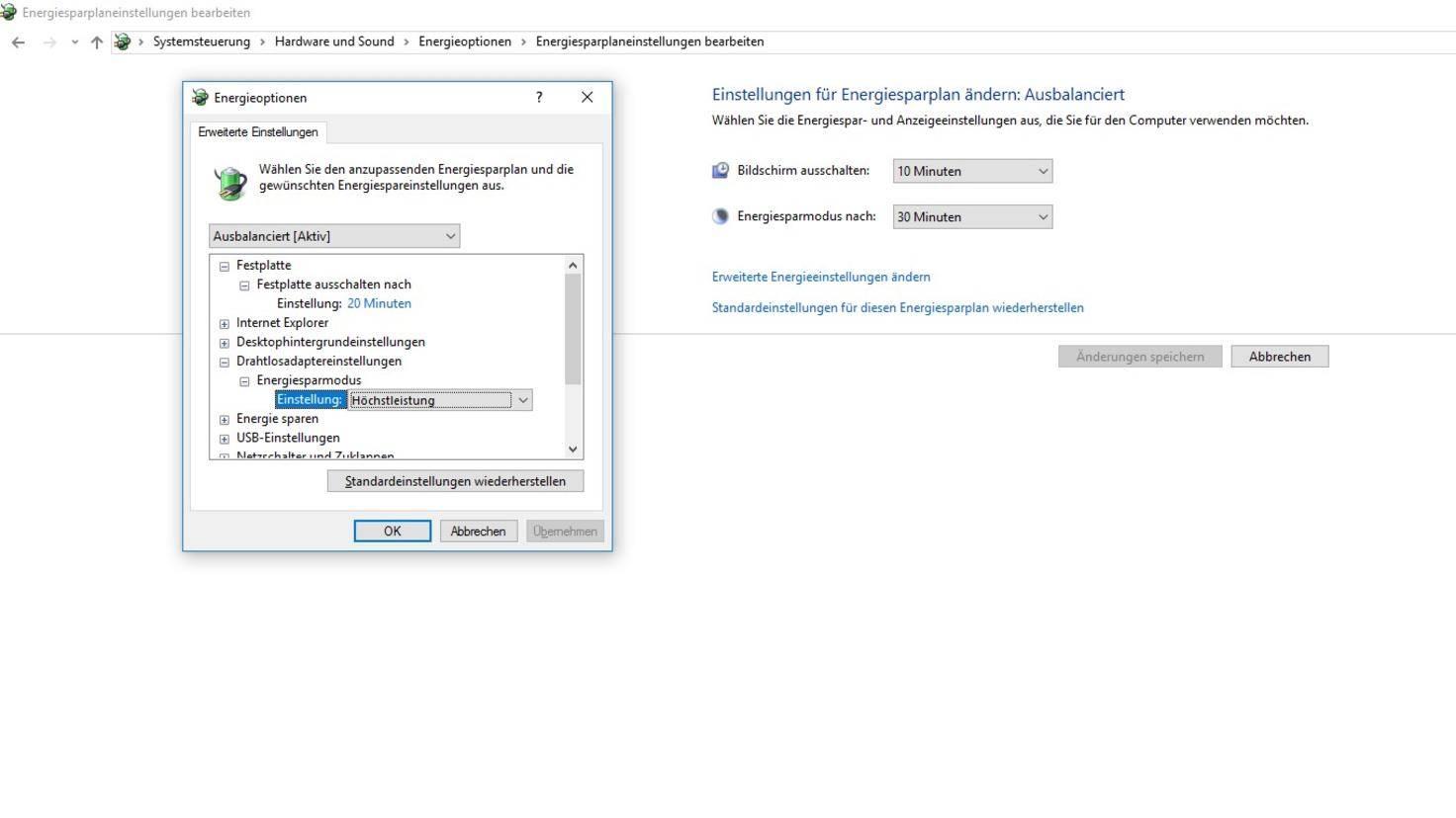 Windows 10 Energieeinstellungen Drahtlosadapter WLAN.jpg