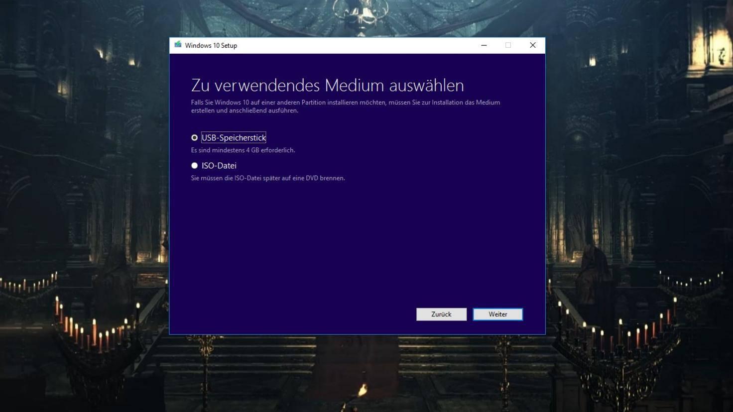 Windows 10 bootbaren USB-Stick erstellen Tool 3