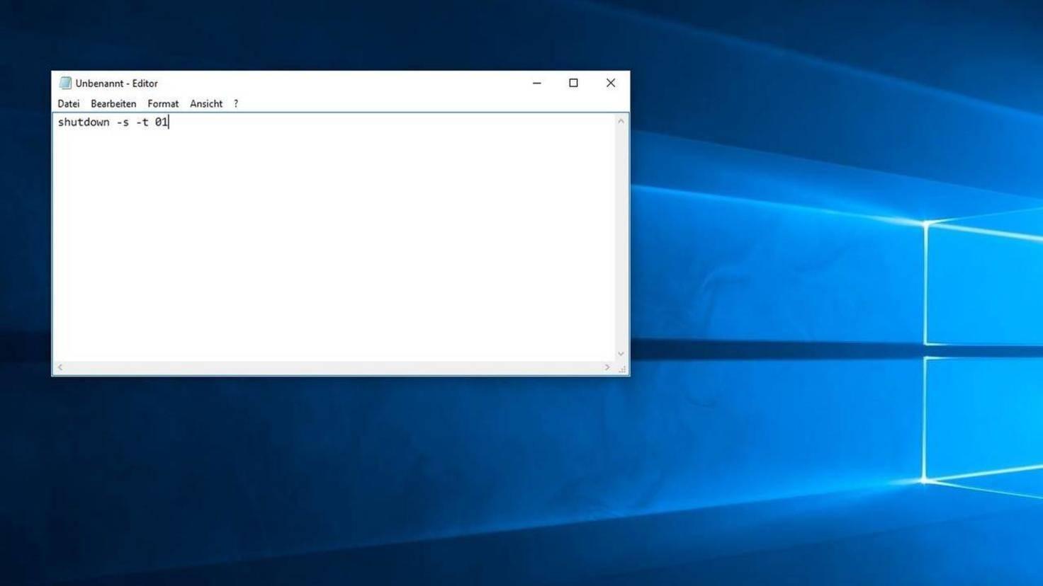 Windows Herunterfahren Batchdatei 01.JPG