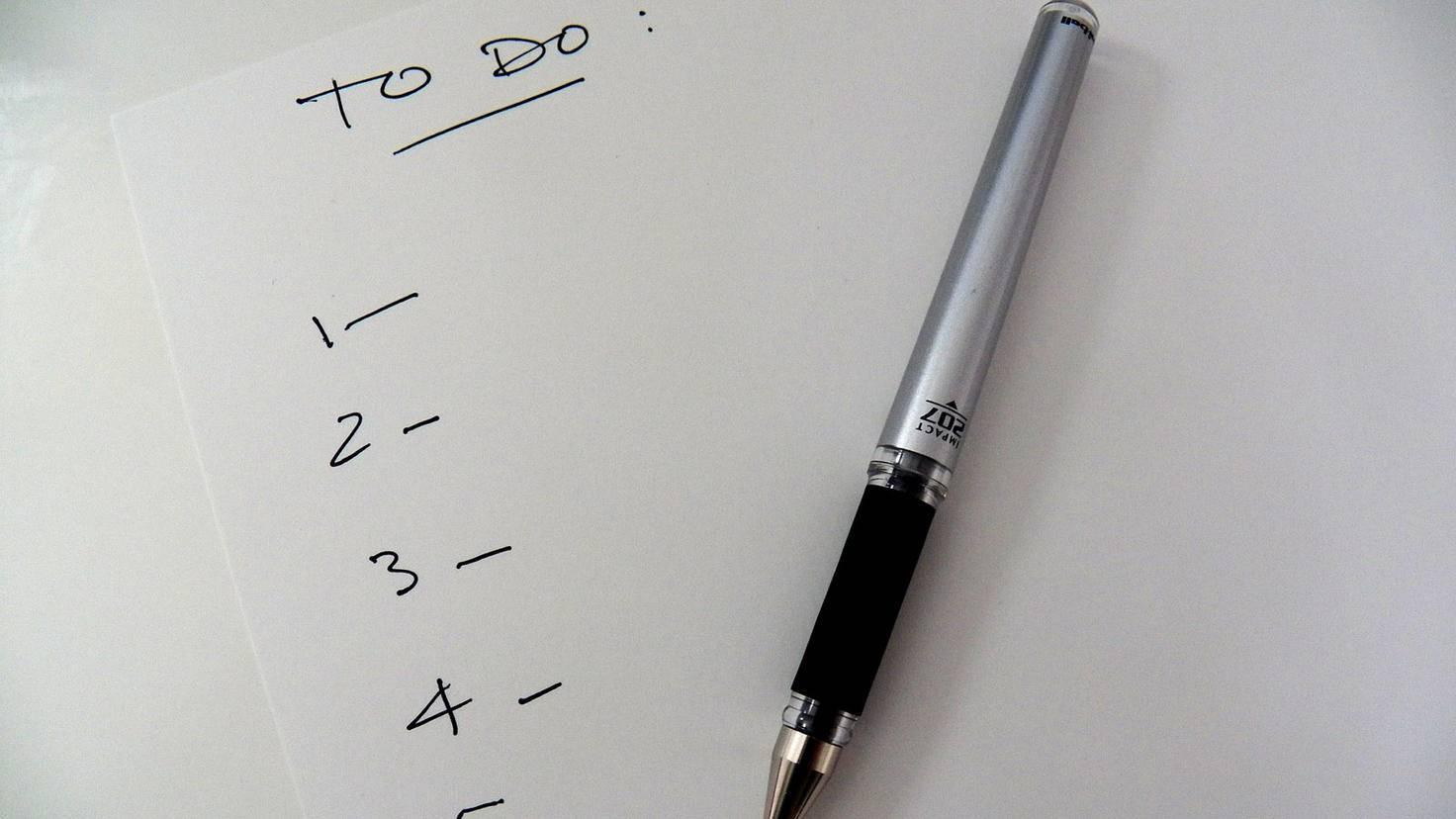 To-Do-Listen geben Dir einen Überblick über Deinen Tag.