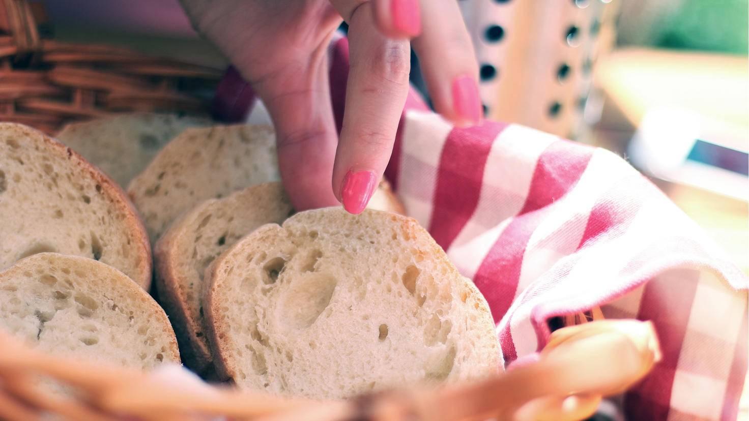 Der Brotkorb sollte im Restaurant leider tabu sein.