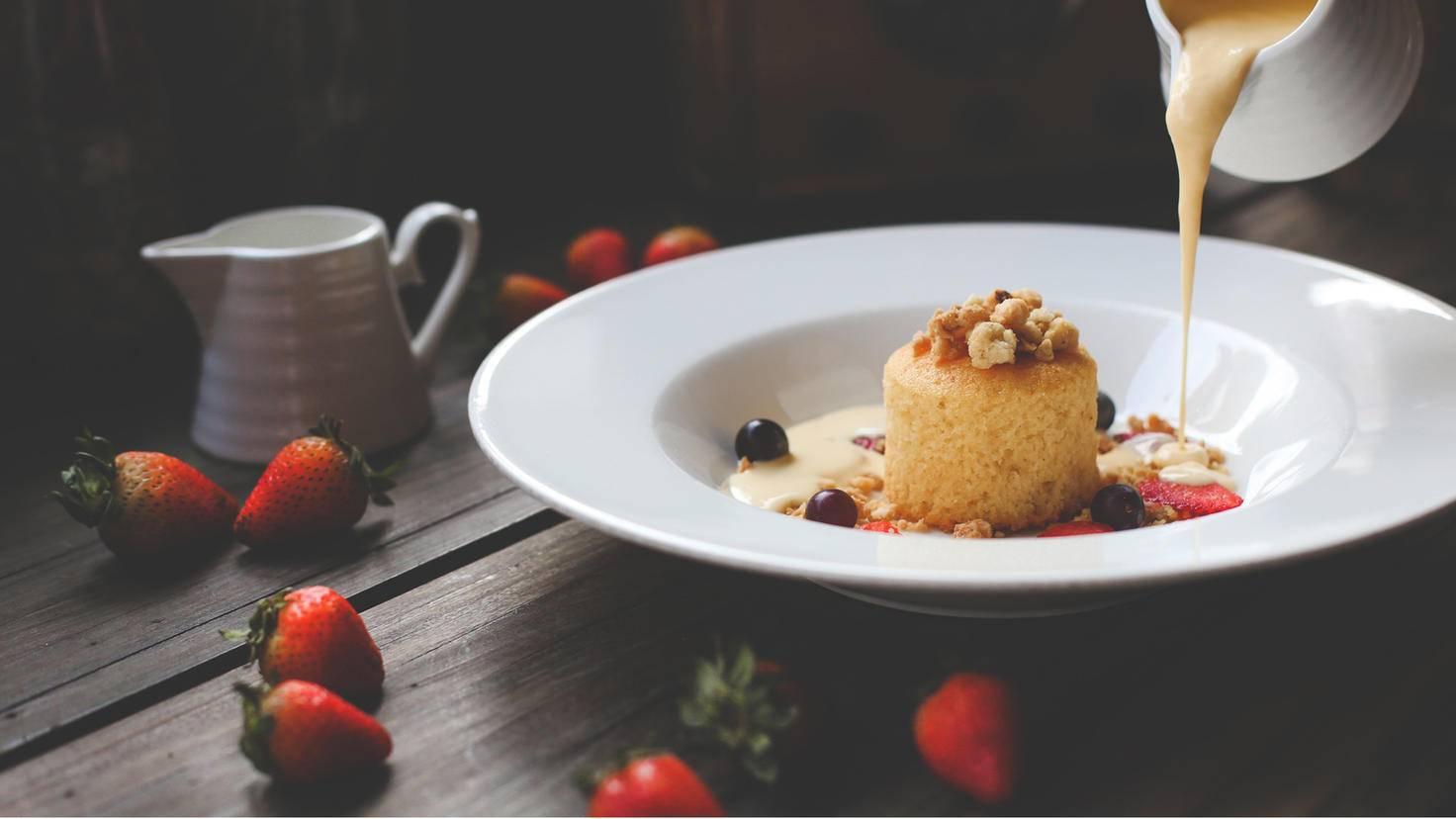 Ein halbes Dessert stillt die größten Gelüste.