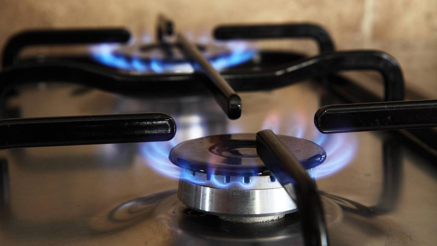 Ein Gasherd setzt die Hitze sofort frei und schont dabei die Umwelt.