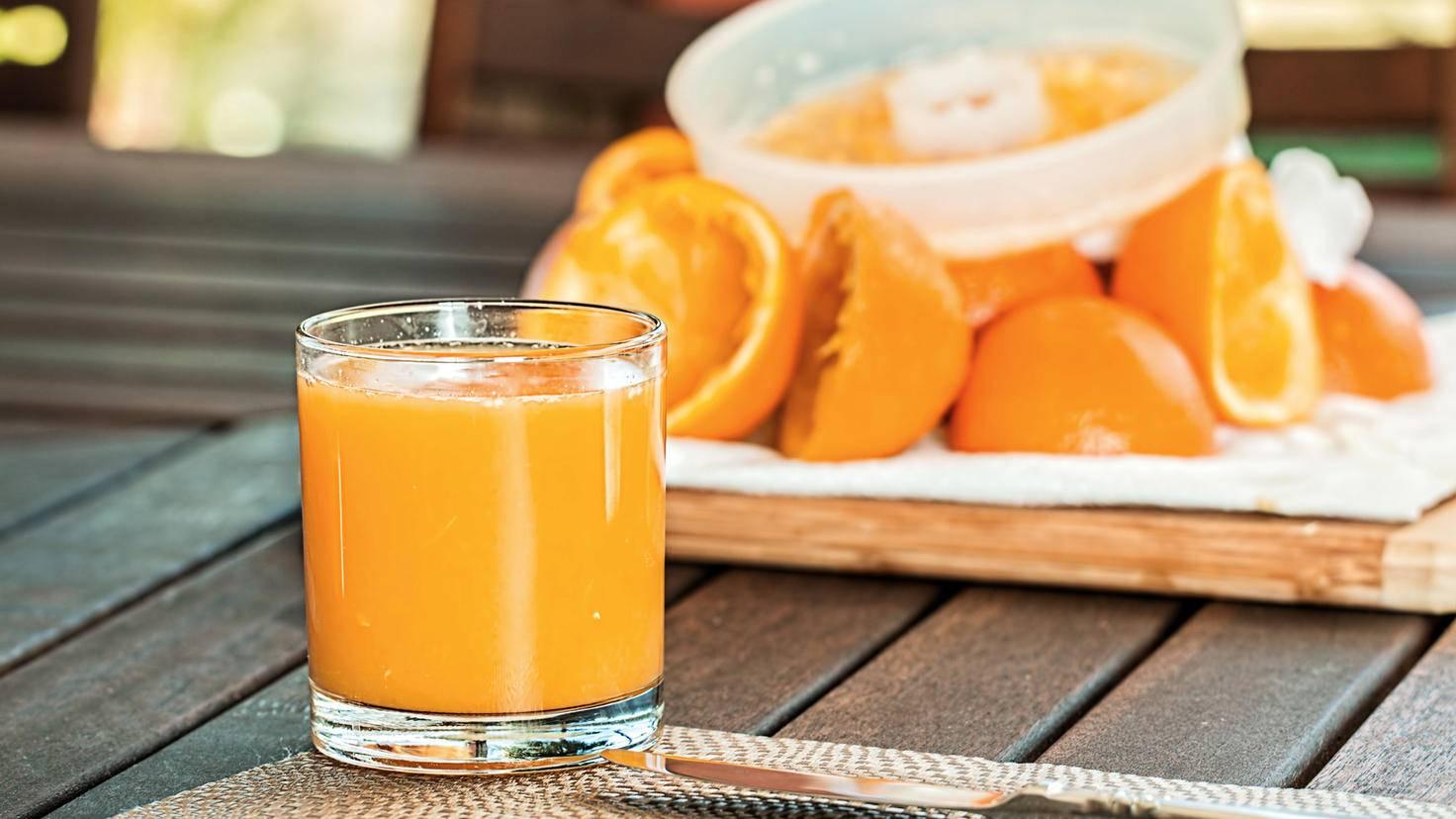 Es kann nie genug Orangensaft geben!
