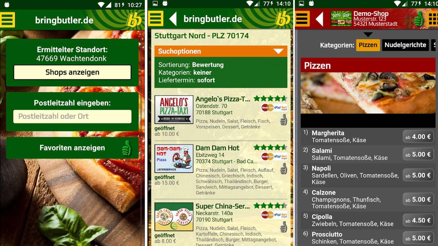 Nicht von der Optik abschrecken lassen: Bringbutler ist eine praktische Lieferservice-App.