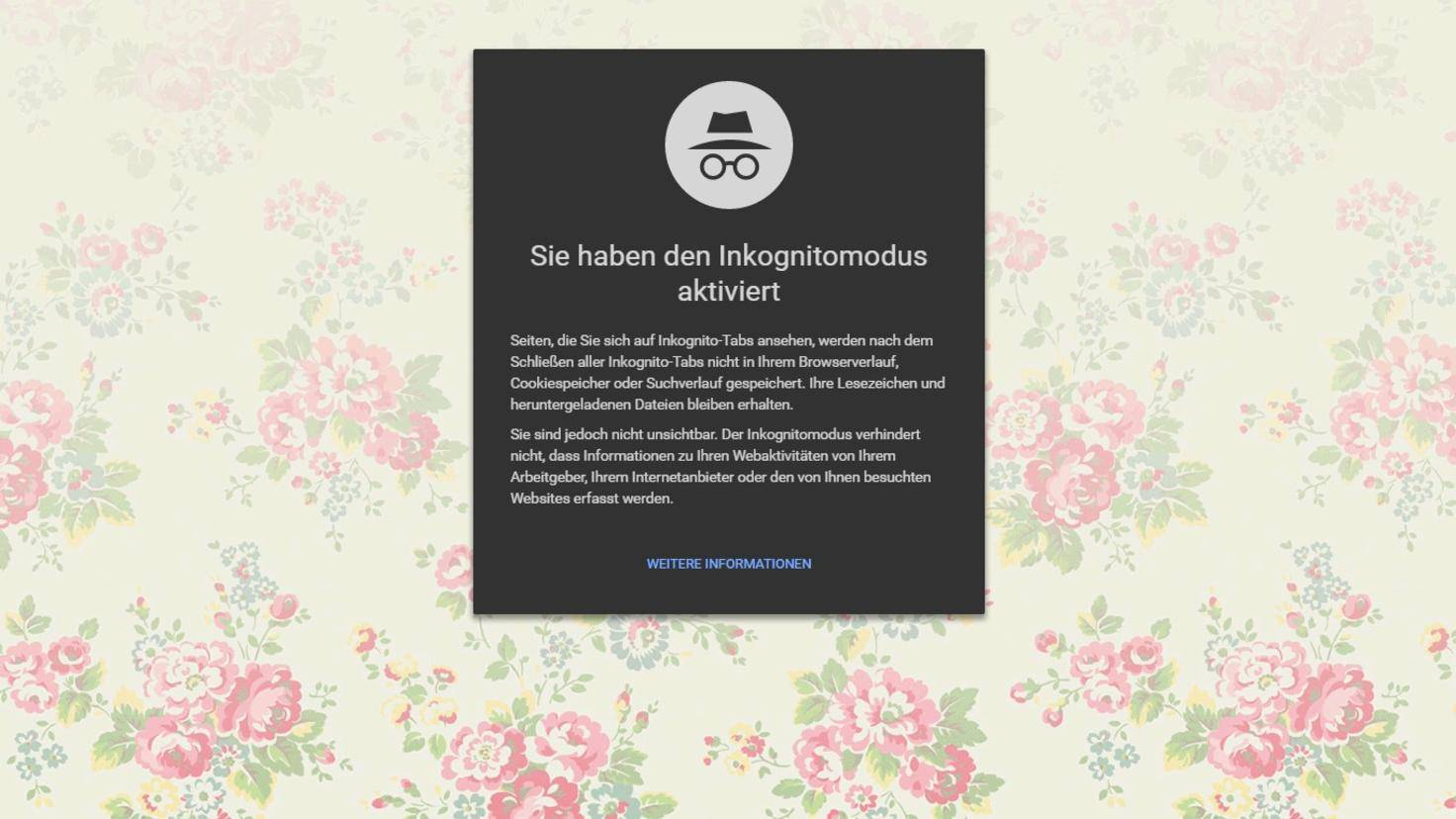 Chrome Befehle Incognito