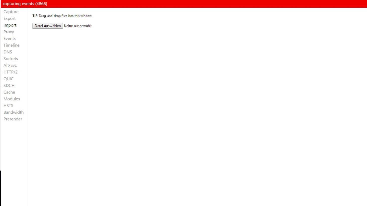 Chrome Befehle Net Internals