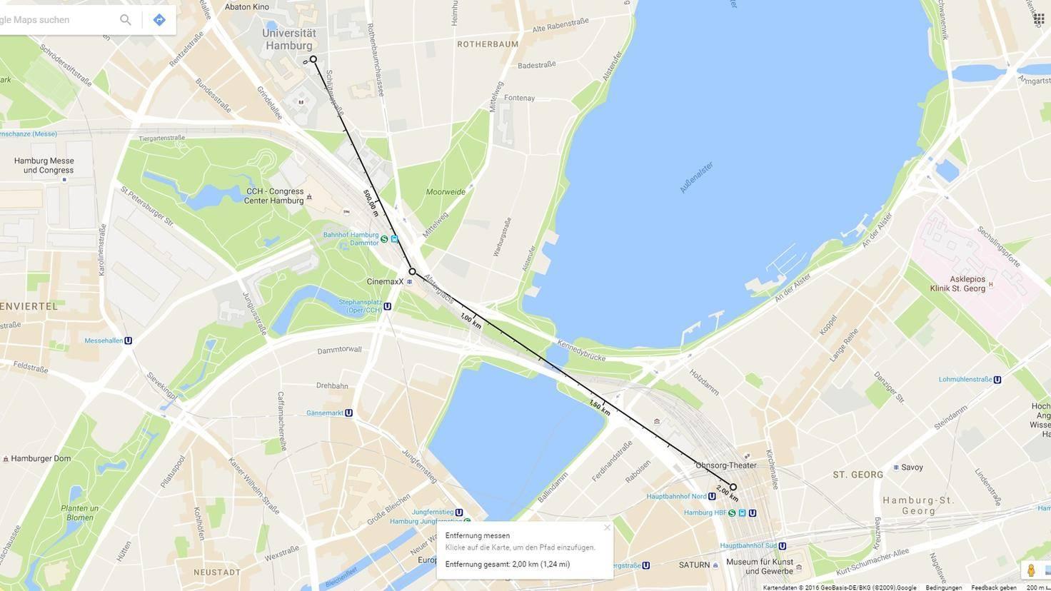 Google Maps Entfernungsmesser Zwischenstop