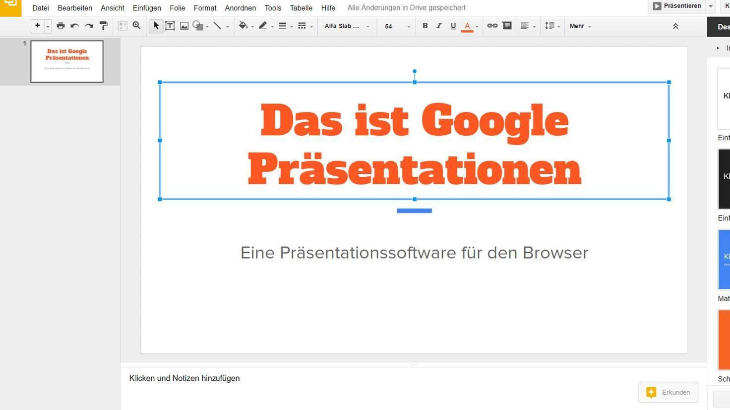 Google Präsentationen