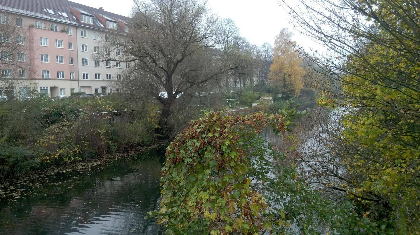 Die Kamera des One A9s macht trübe Herbsttage in Hamburg noch etwas trüber.