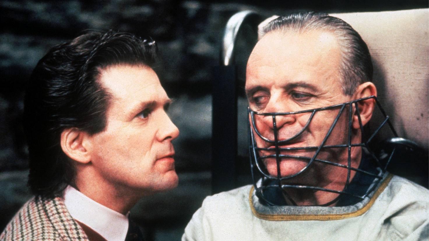"""Anthony Hopkins (r.) alias Hannibal Lecter lehrte das Kinopublikum in """"Das Schweigen der Lämmer"""" das Fürchten."""