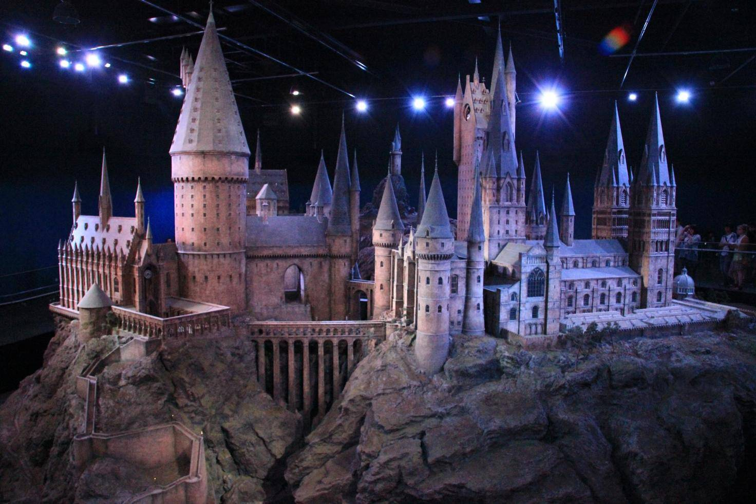Das detaillierte Hogwarts-Modell ist eines der Highlights der Warner Bros. Studio Tour.