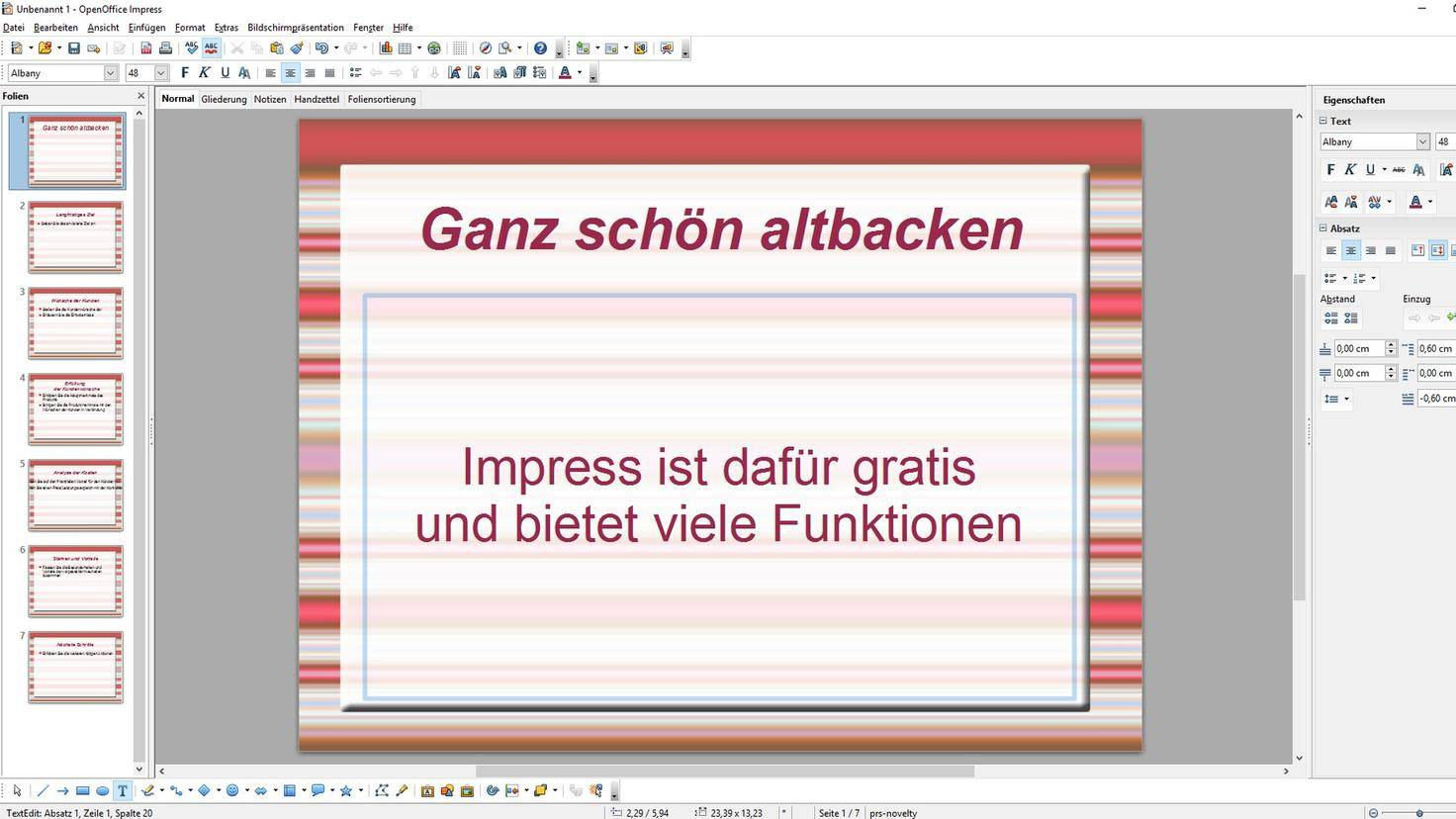Open Office Impress Präsentationen
