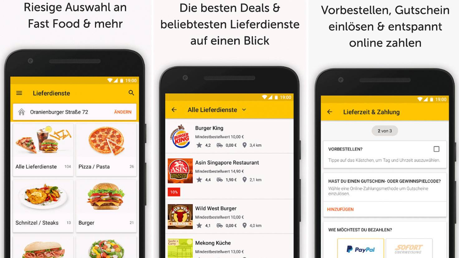 In der Lieferservice-App von pizza.de findest Du immer die besten Deals in Deiner Umgebung.