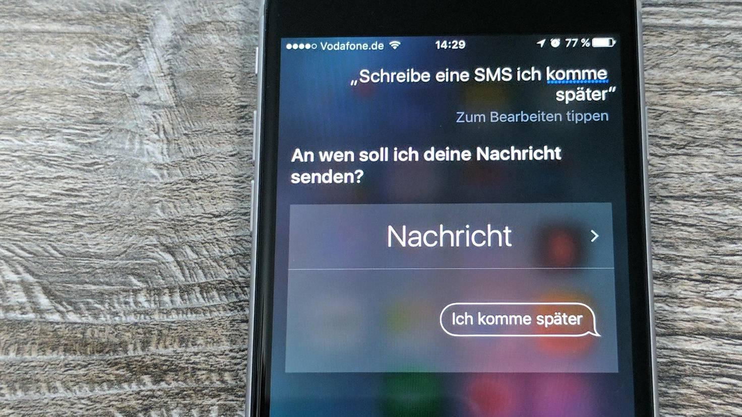 Siri Nachricht