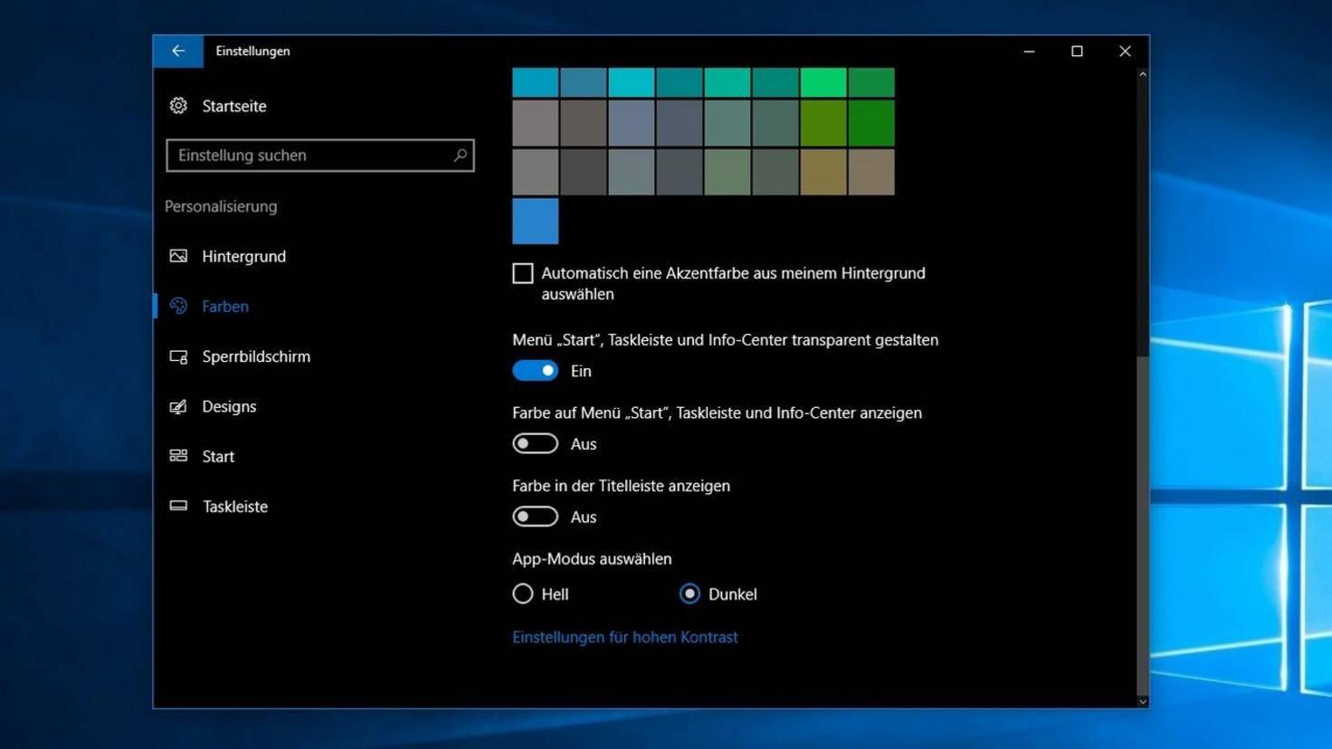 Windows 10 update hintergrund schwarz