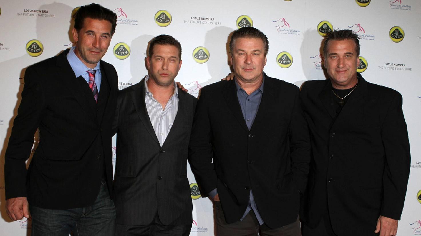 Baldwin im Viererpack. Von links nach rechts: William, Stephen, Alec und Daniel