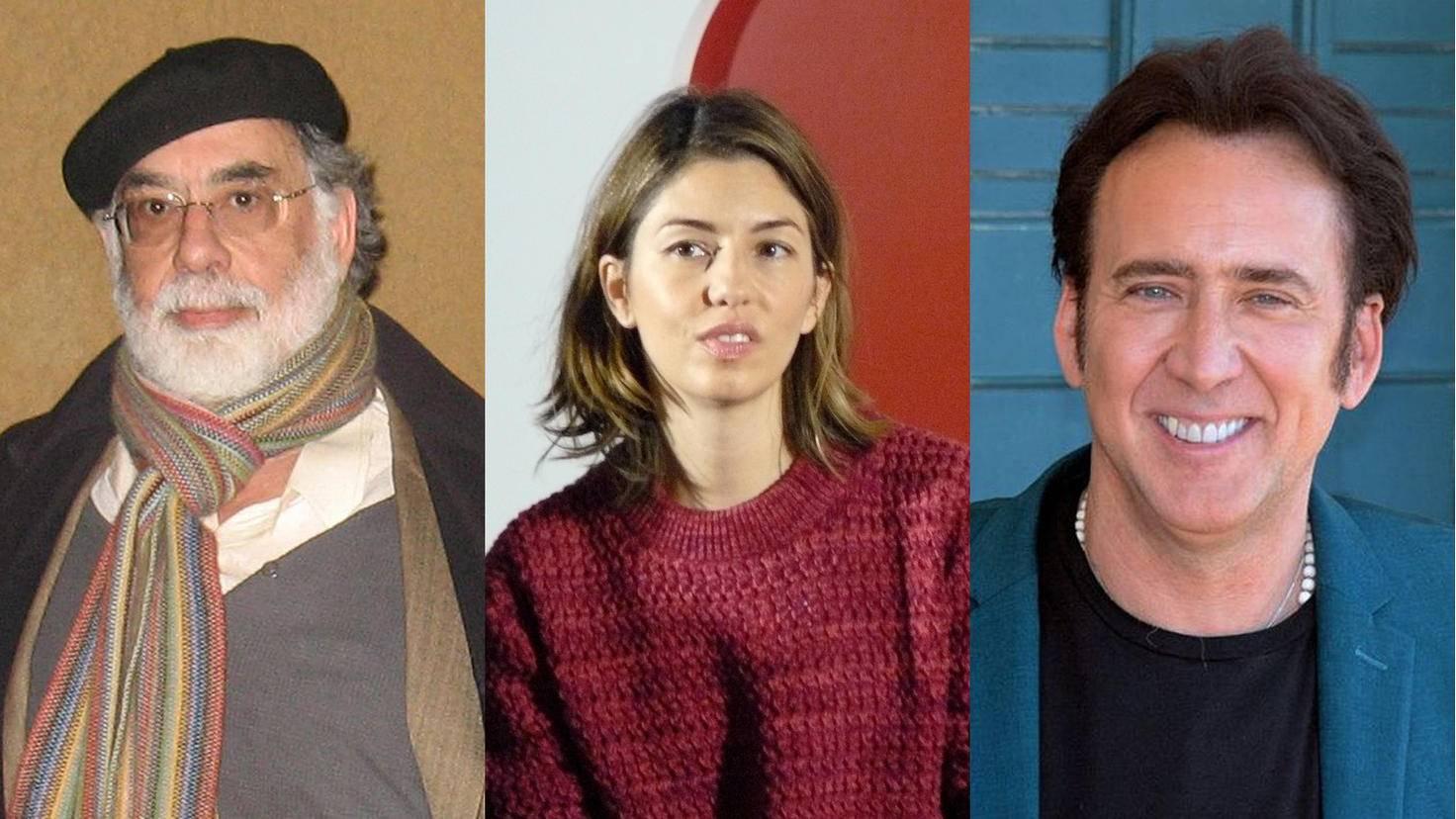 Weitverzweigt: Francis Ford Coppola, Tochter Sofia und Neffe Nicolas Cage