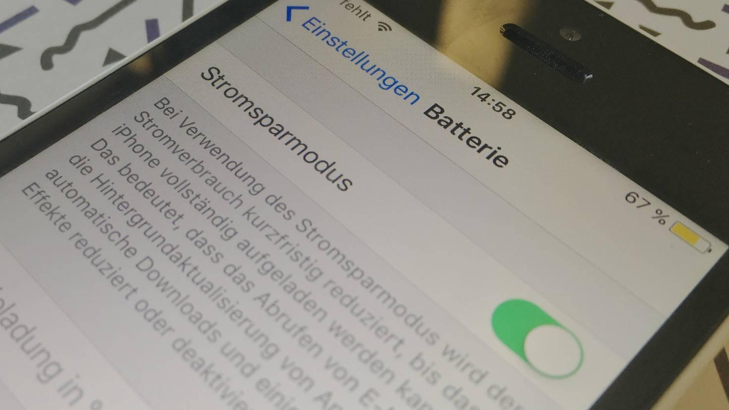 iOS iPhone Stromsparmodus