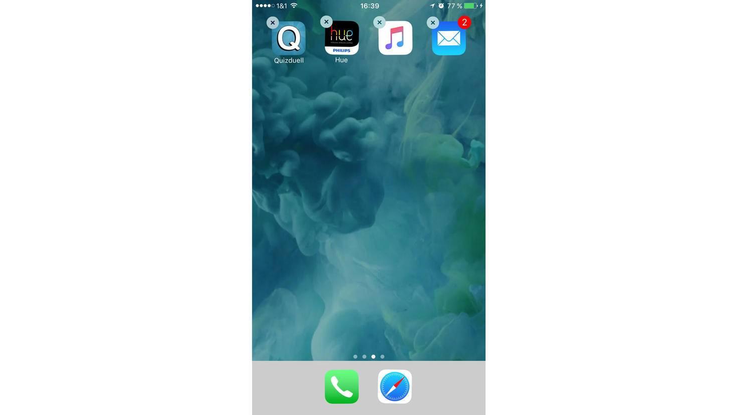 Die App-Symbole ohne Bezeichnung können jetzt einfach auf dem Home-Screen platziert werden.