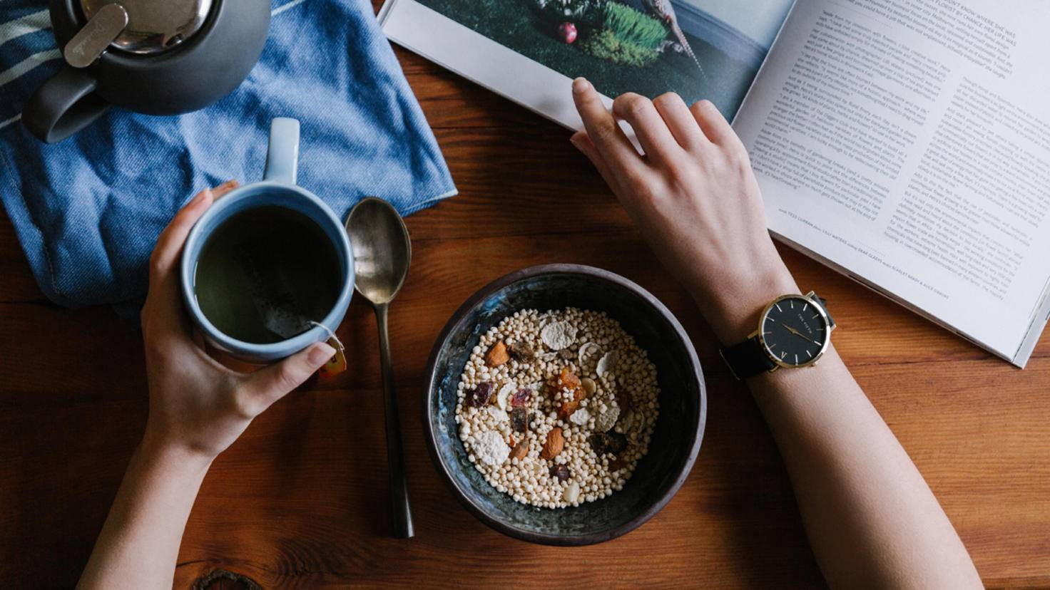 Der Schlüssel zu einem guten Stoffwechsel: regelmäßige gesunde Mahlzeiten.