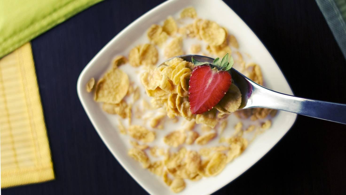 Gelatine sorgt für Cornflakes für Glanz.