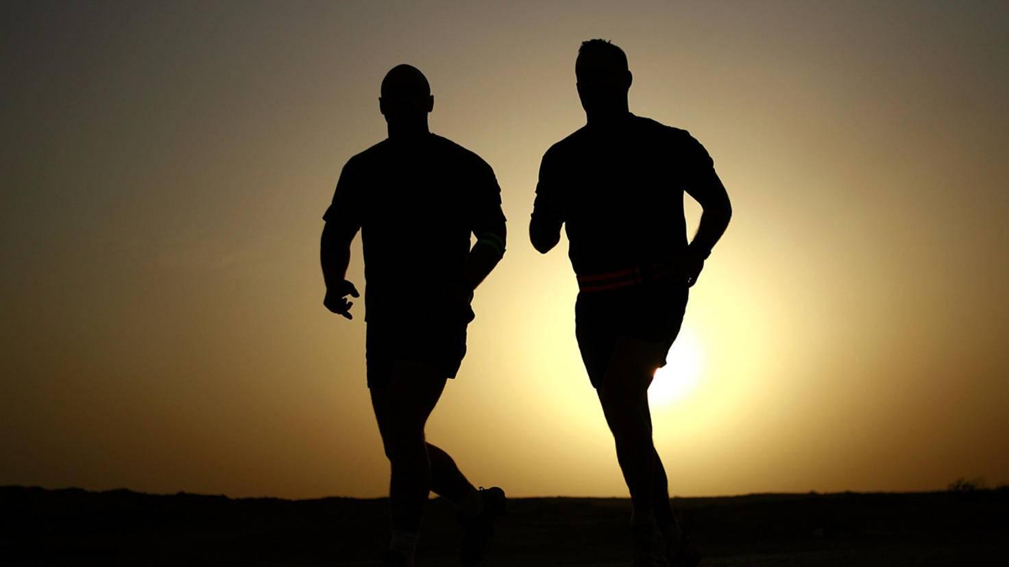 Auch beim Joggen gilt: Zu zweit läuft's besser!