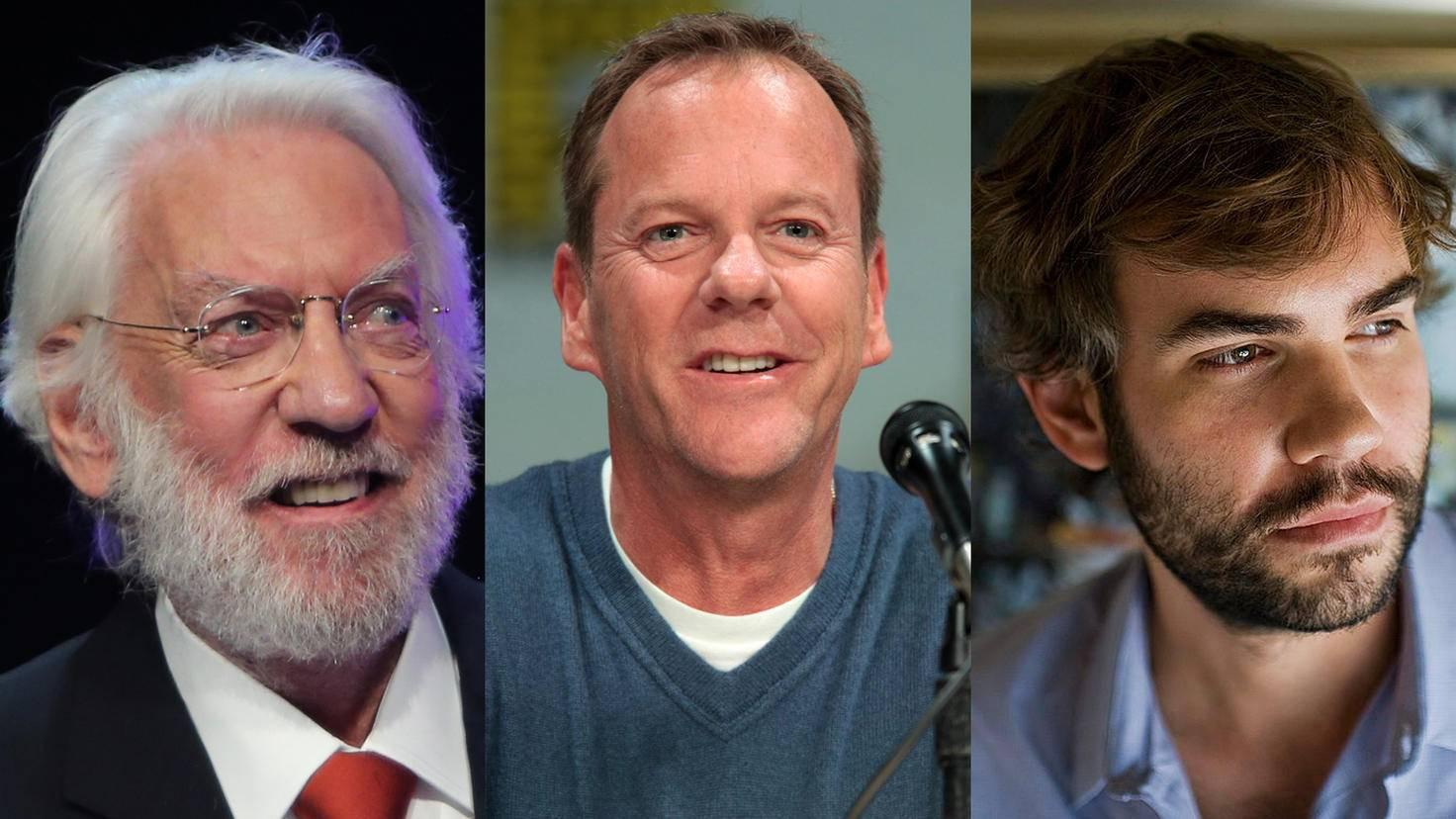 Zwei Generationen Sutherland: Donald, Kiefer und Rossif