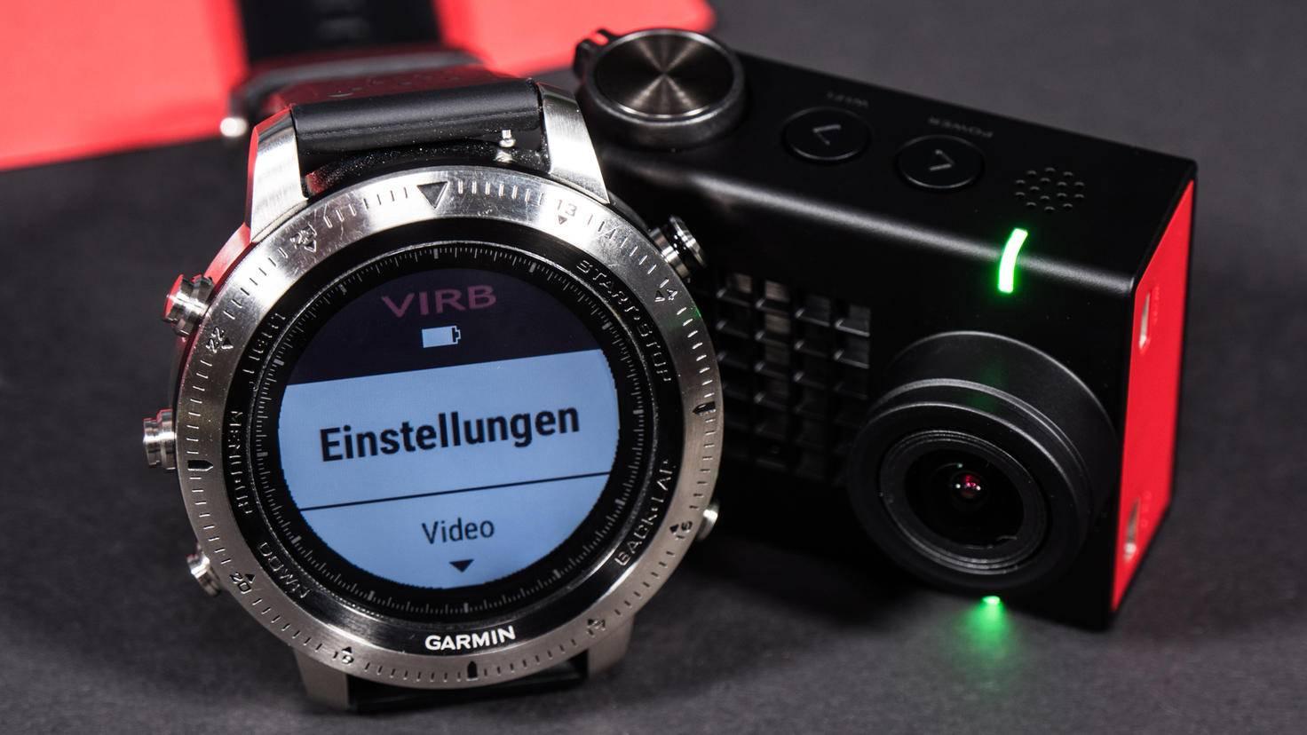 Die VIRB Ultra 30 lässt sich auf Wunsch auch per Garmin fēnix Chronos bedienen.