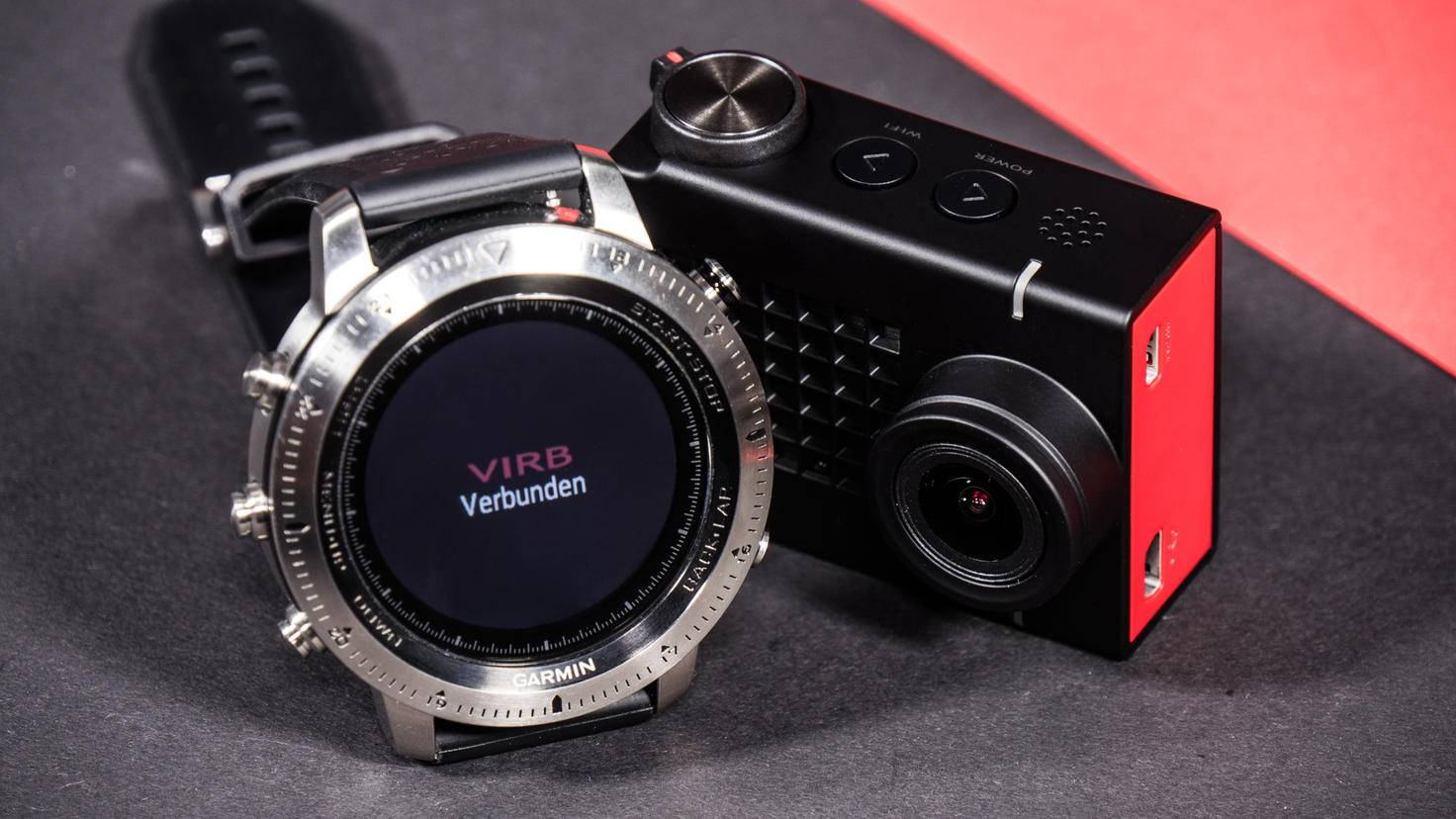 Zudem liefert die Uhr Herzfrequenzwerte an die Kamera.