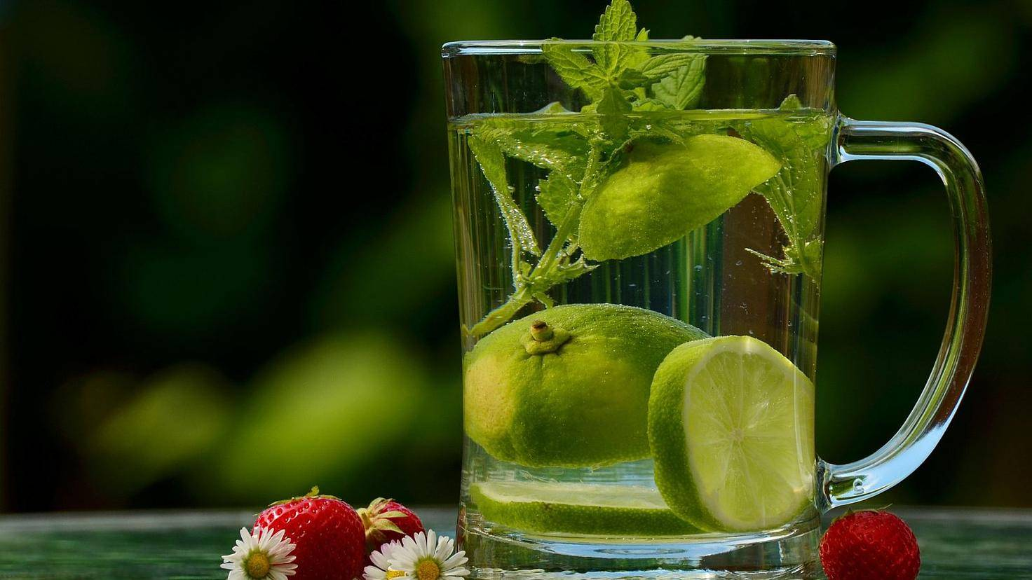 Wasser lässt sich mit Früchten und Kräutern geschmacklich aufpeppen.
