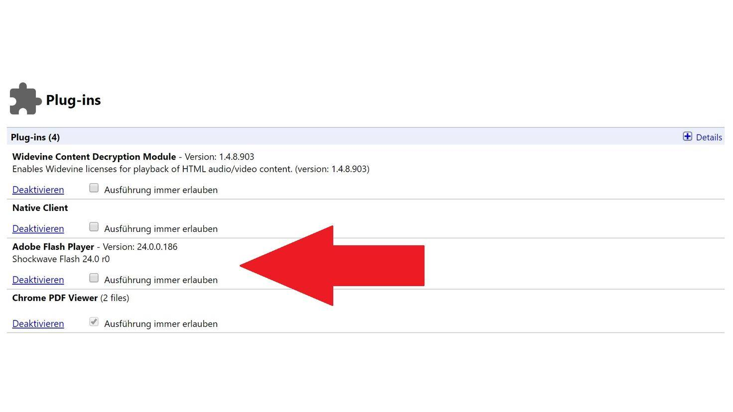 Adobe Flash Chrome Plugins